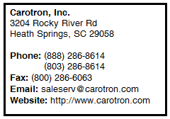 Call Carotron Today!